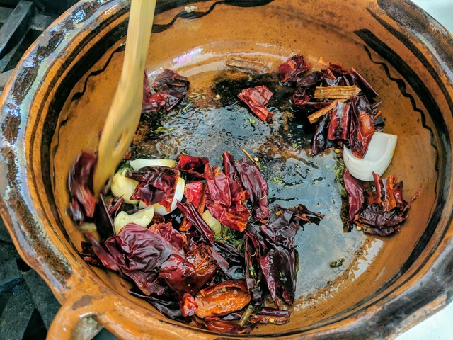 Sauteing spices