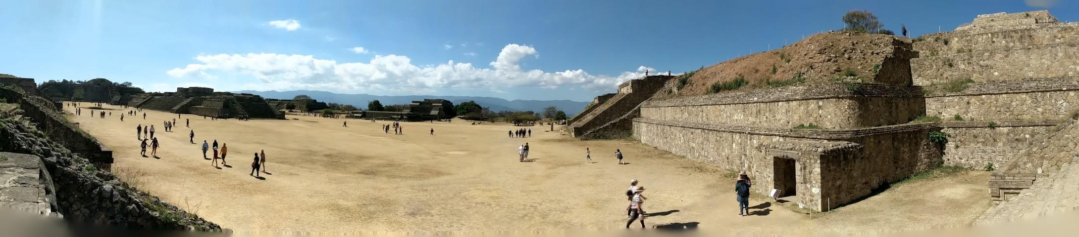 The ancient city of Monte Albán, capitol of the Zapotec civilization.