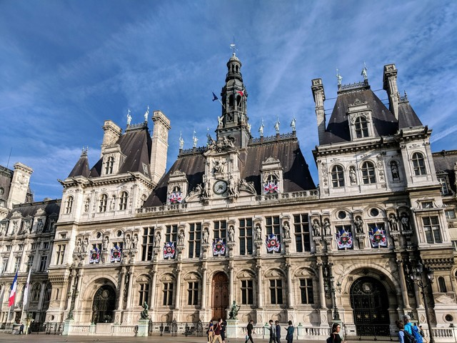 Hôtel de Ville, the Paris city hall
