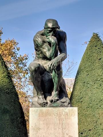"Rodin's famous ""Thinker"""