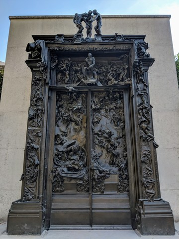 """""""The Gates of Hell"""" was a commission piece by Rodin, he worked on it for 37 years, until his death."""