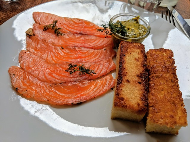 Gravlax, a Nordic style of cured salmon