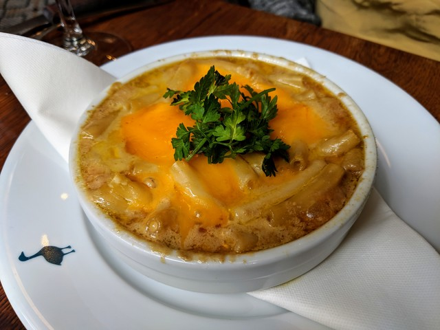 Fois Gras mac and cheese. I think we had the gout after this meal!