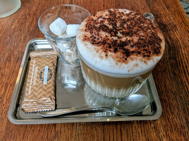 After lunch cappuccino