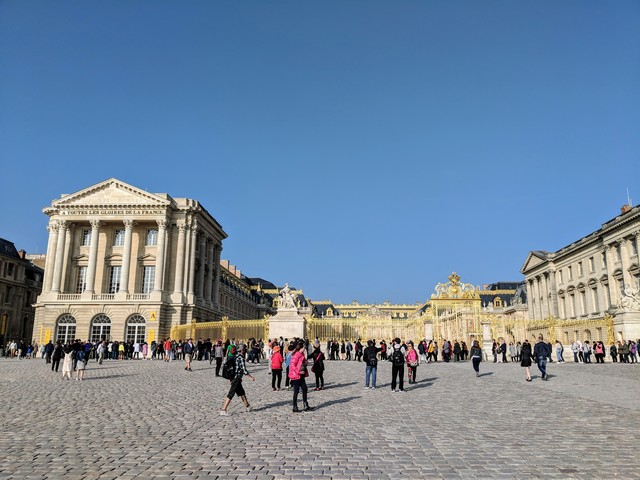 The gates of the palace of Versailles