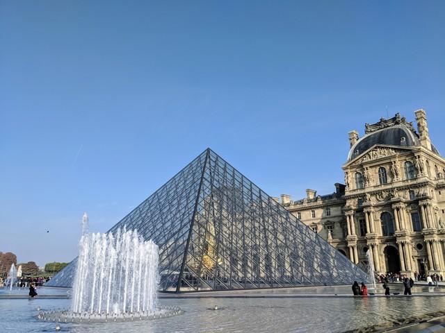 Iconic Louvre entrance