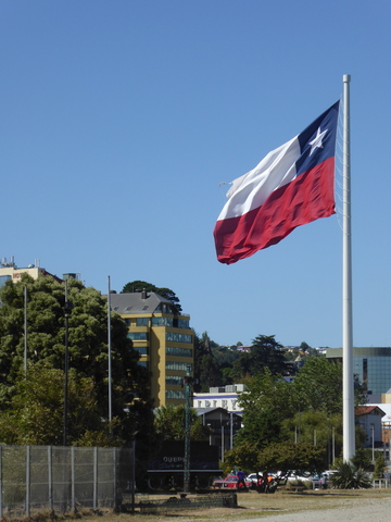 They really like giant flags in Chile.
