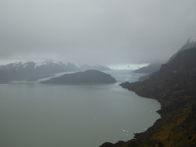 The grey glacier.