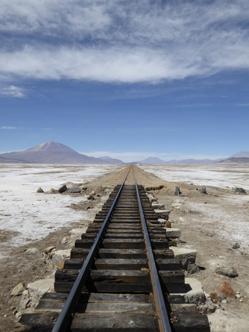 Train line heading to Chile.