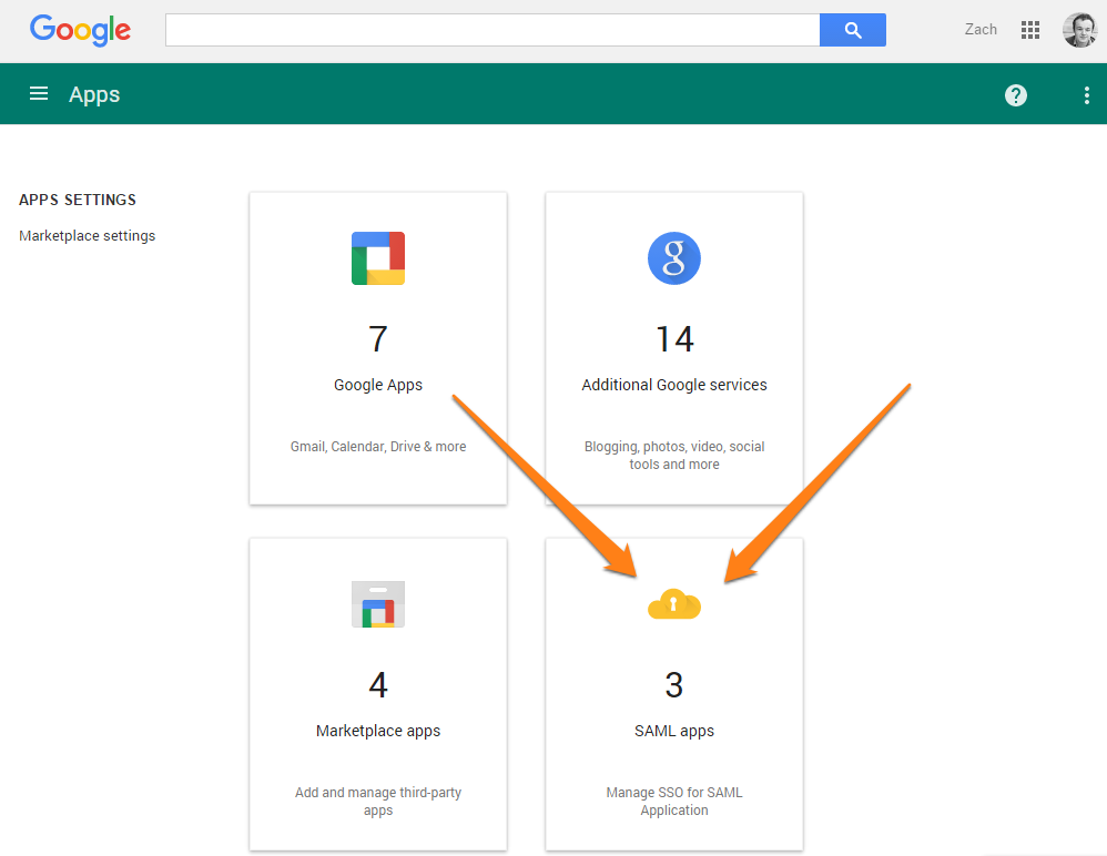 SAML App setup in Google Apps