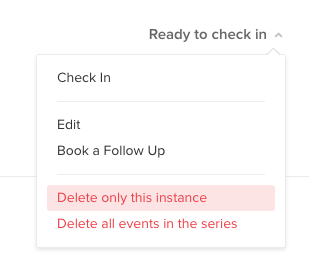 Remove event series at once