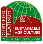 The ANSI/LEO-4000 certification mark communicates level of sustainability achievement