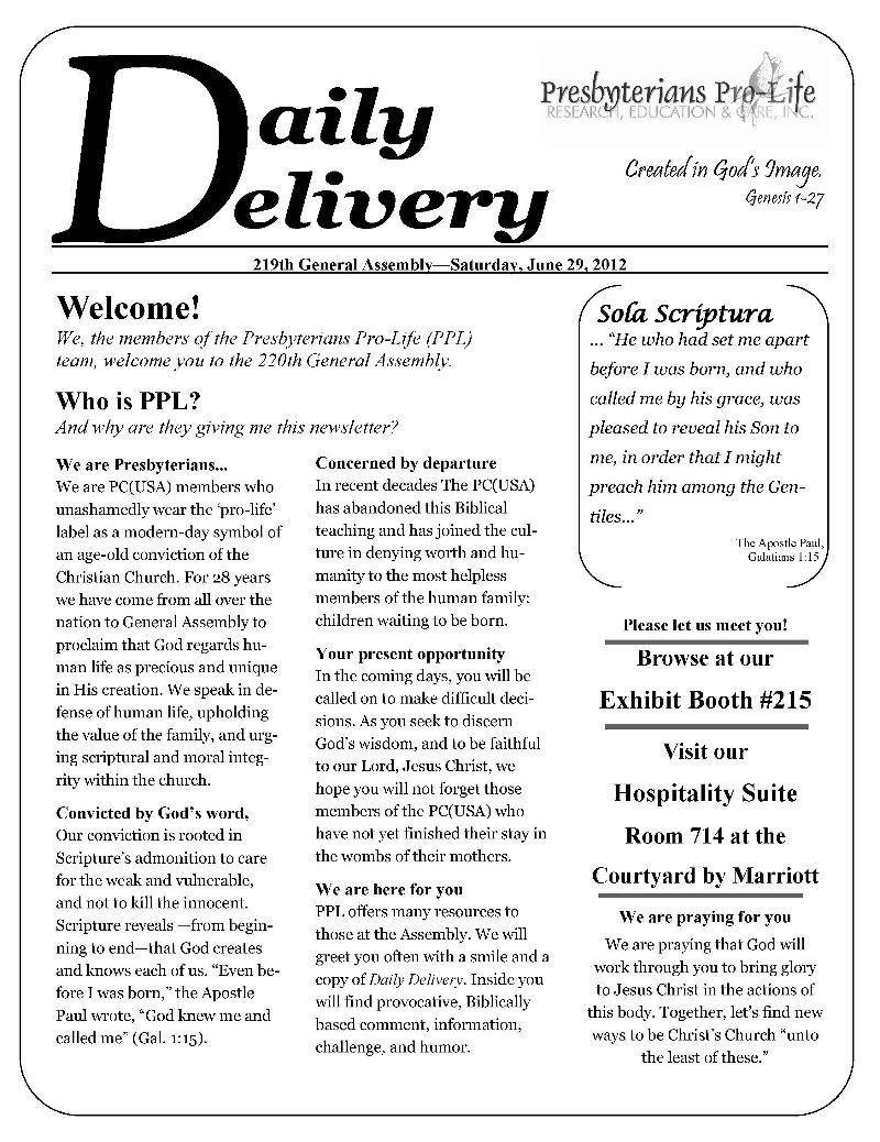PPL GA Newsletter
