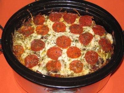 Crock Pot Pizza Pasta