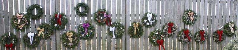 Wall of Wreaths