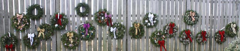 Wall of Wreaths