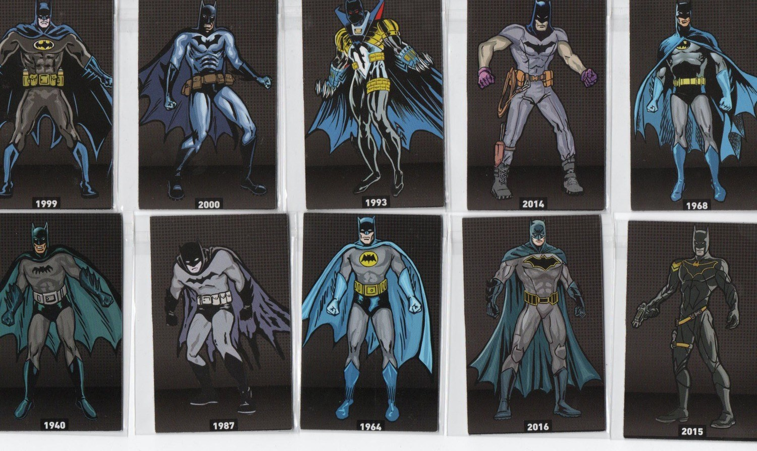 27 cards imantados do Batman