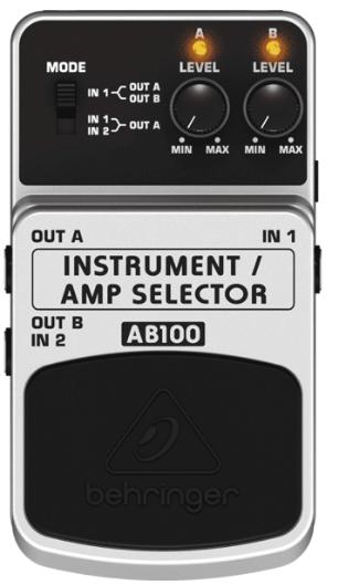 Pedal para Guitarra Behringer AB-100 Amp Selector