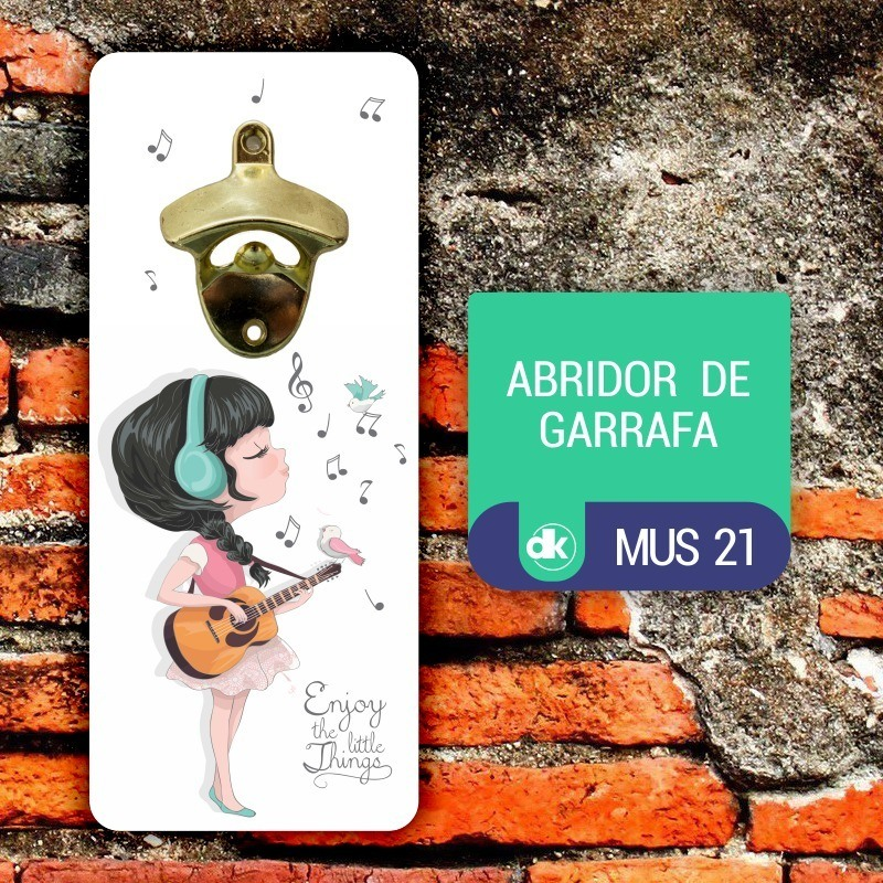 Abridor de Garrafas Dekorarte MUS21