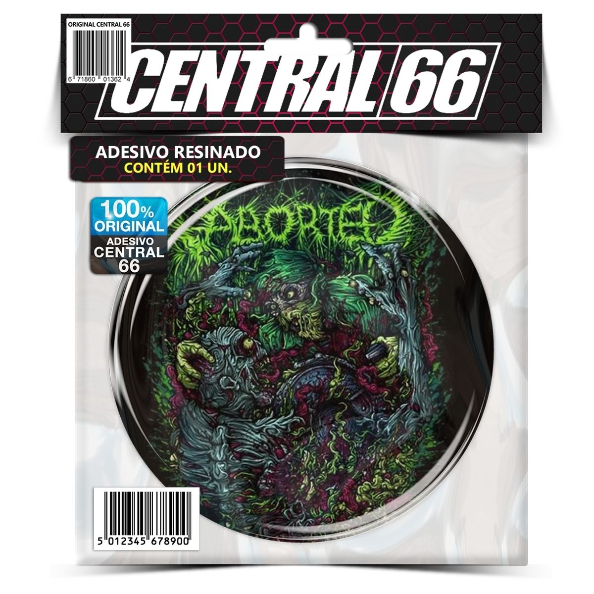 Adesivo Aborted – Central 66