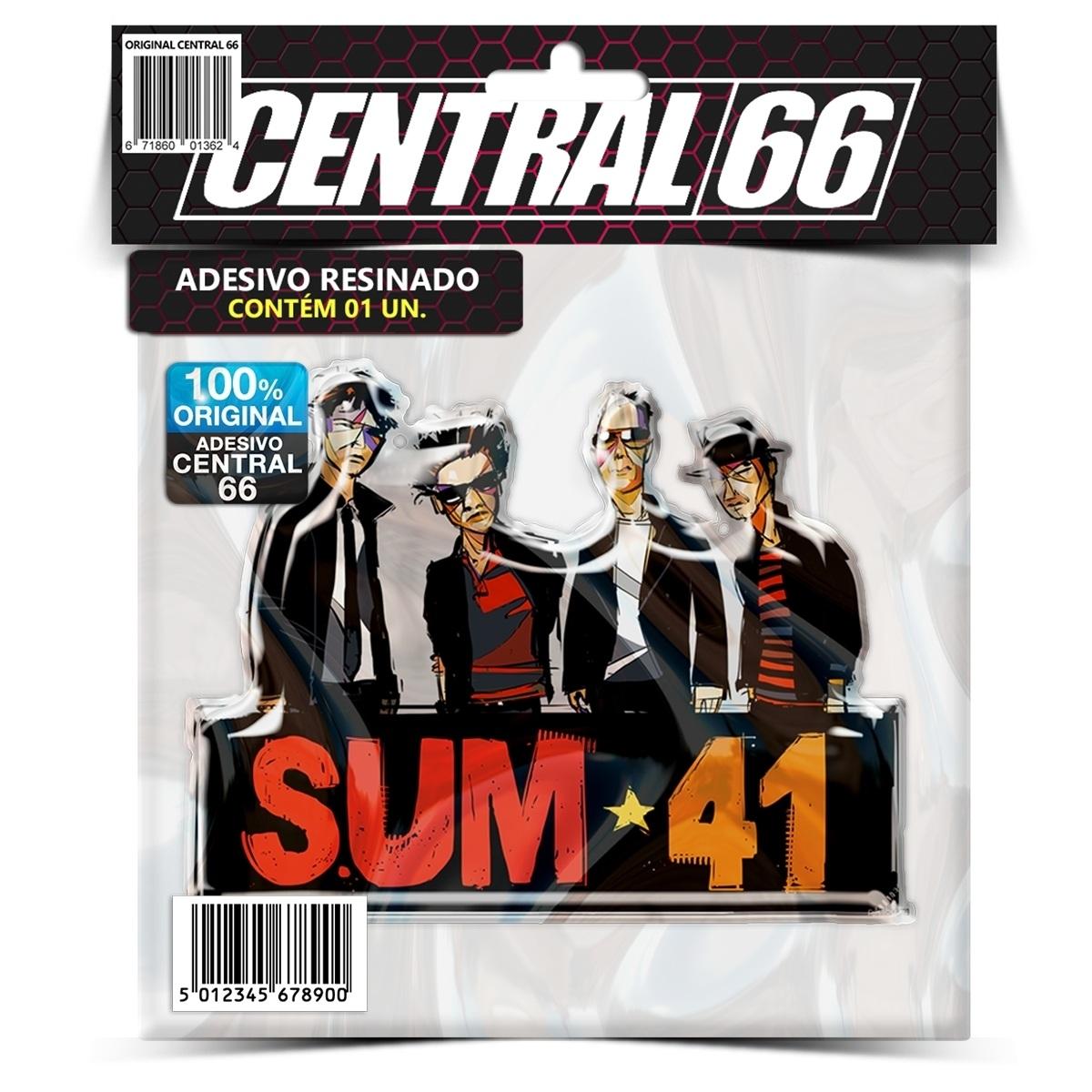 Adesivo Banda Sum 41 M02 – Central 66