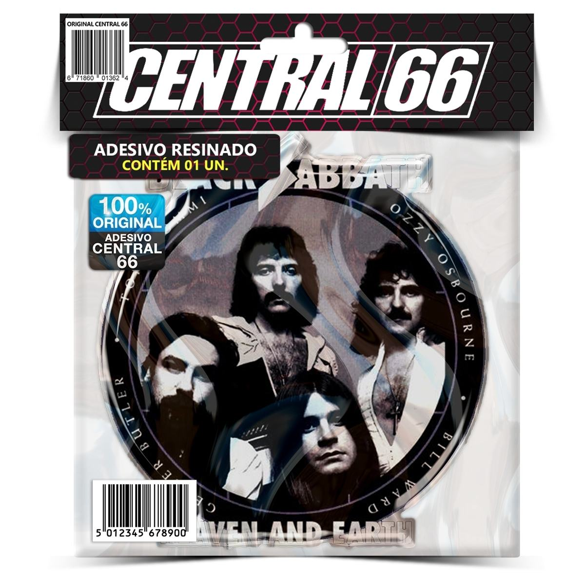 Adesivo Black Sabbath Heaven and Earth – Central 66