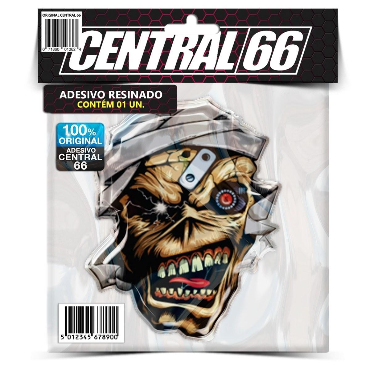 Adesivo Iron Maiden Eddie Cabeça – Central 66