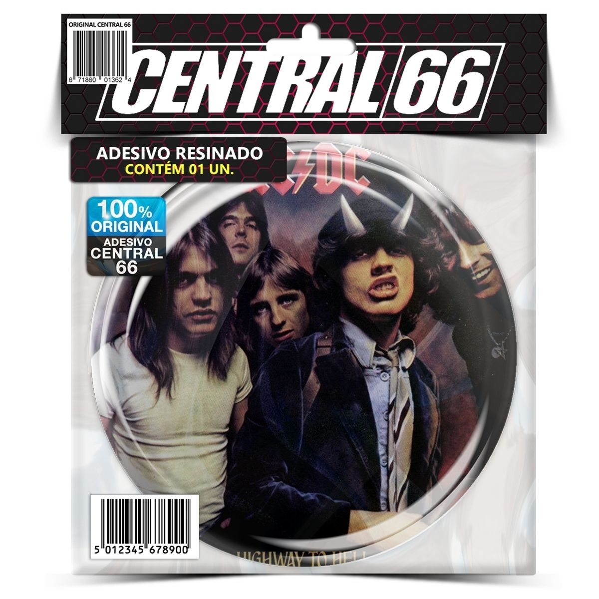 Adesivo Redondo Ac Dc Highway to Hell – Central 66