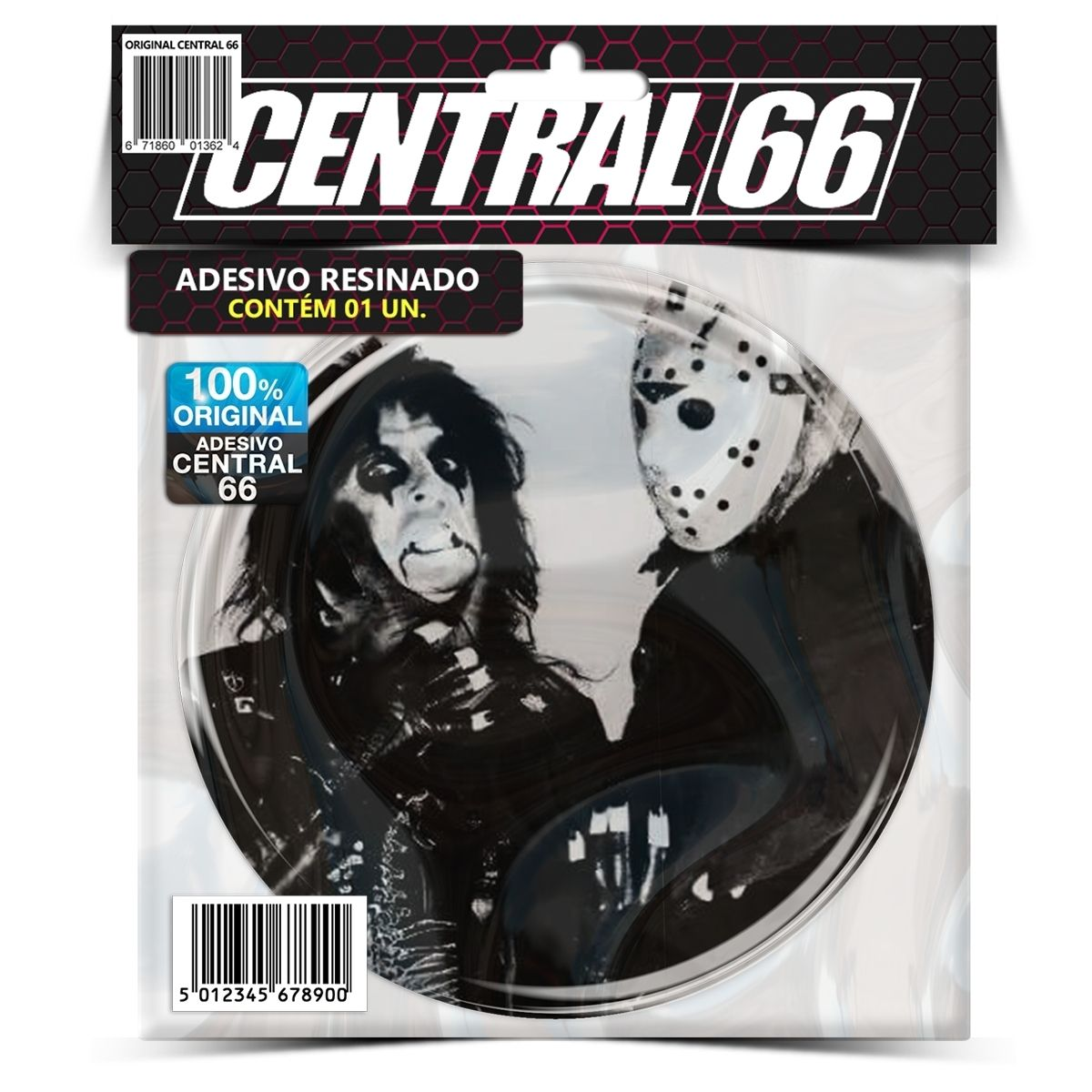 Adesivo Redondo Alice Cooper e Jason Voorhees – Central 66