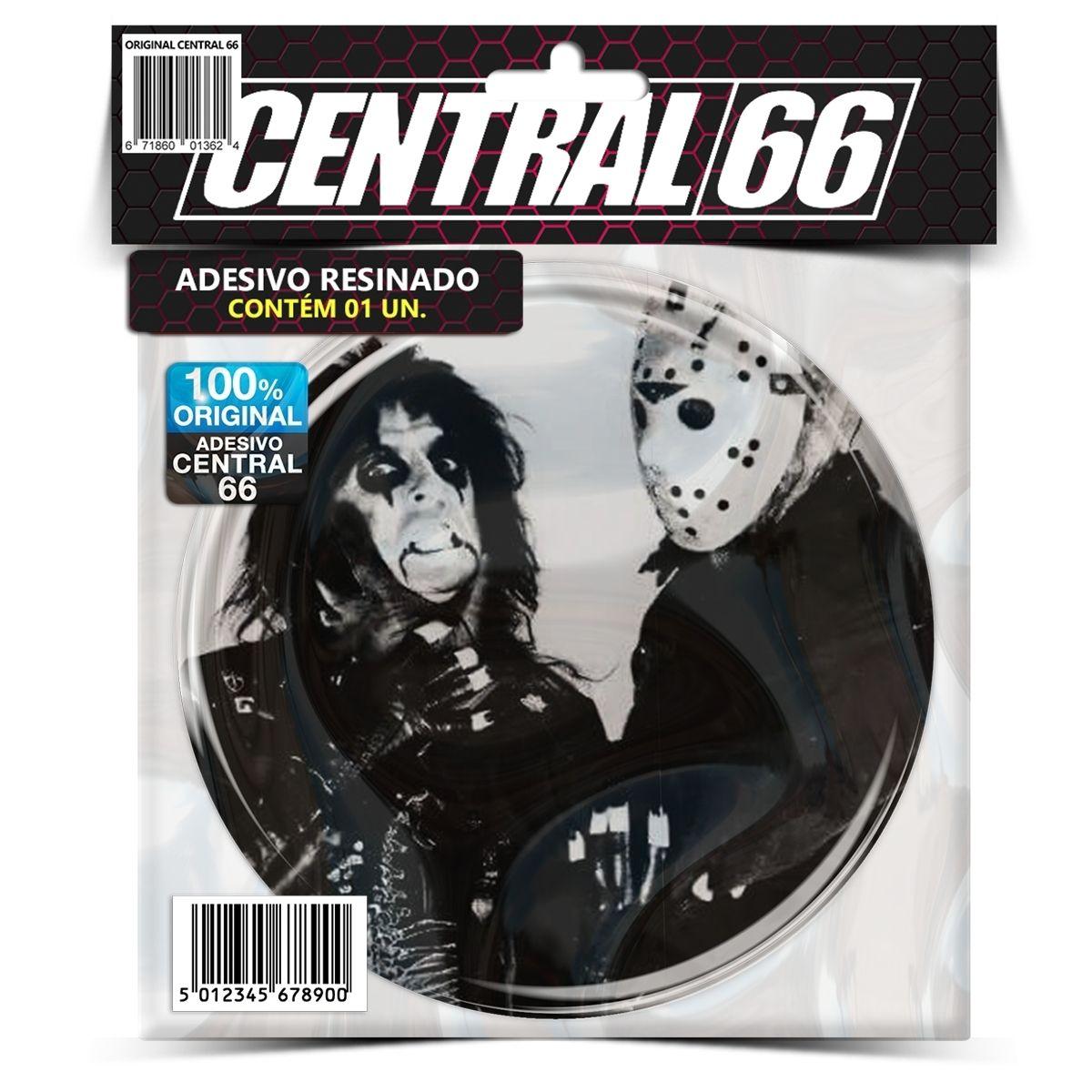 Adesivo Redondo Alice Cooper e Jason Voorhees – Central 66