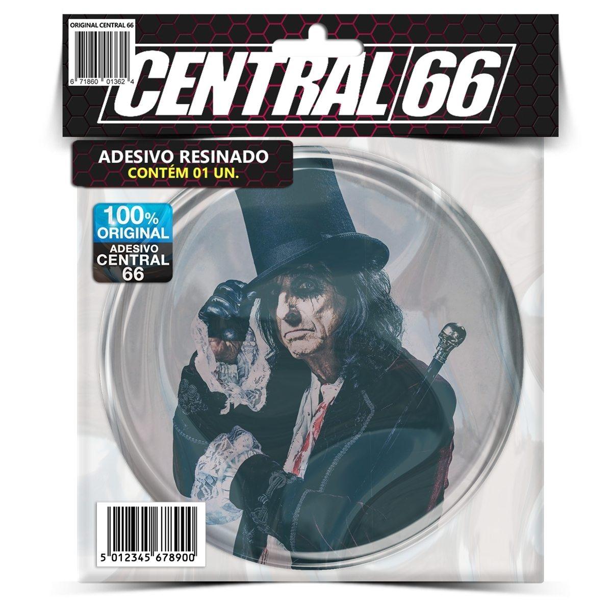 Adesivo Redondo Alice Cooper M02 – Central 66
