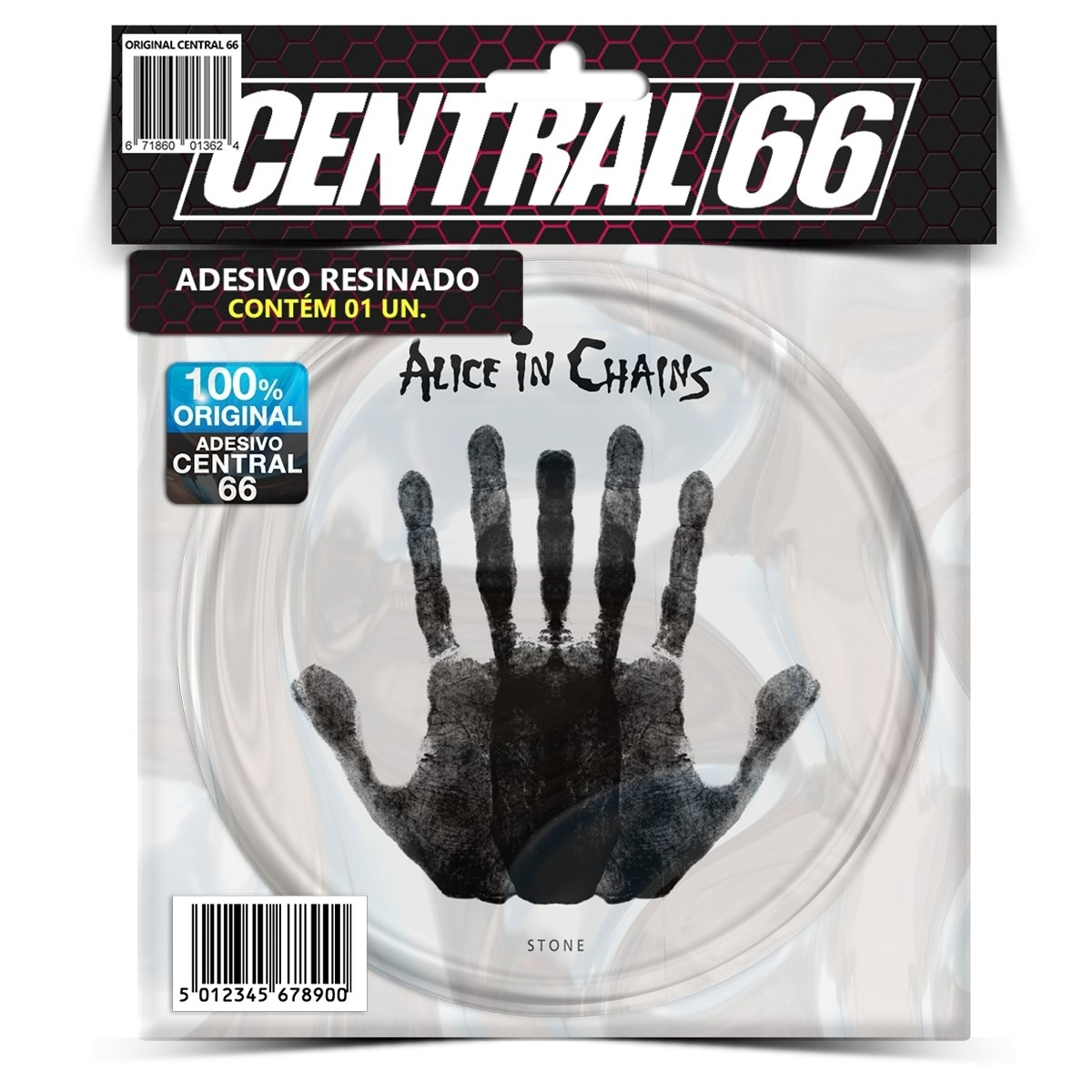 Adesivo Redondo Alice in Chains Stone – Central 66