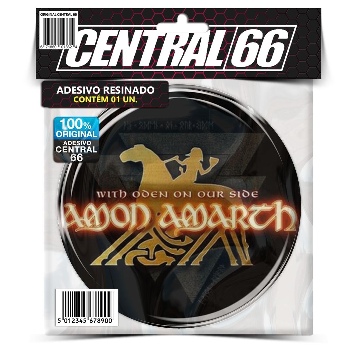 Adesivo Redondo Amon Amarth With Oden On Our Side – Central 66