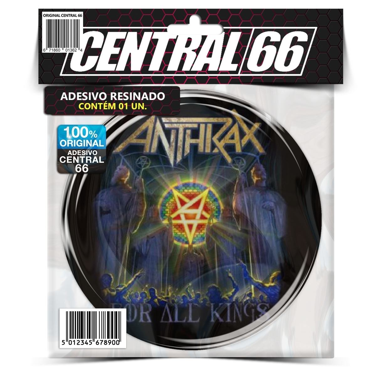Adesivo Redondo Anthrax For all Kings – Central 66