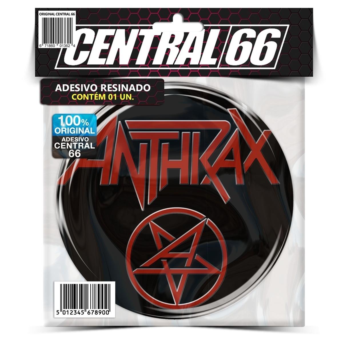 Adesivo Redondo Anthrax Pentagrama – Central 66