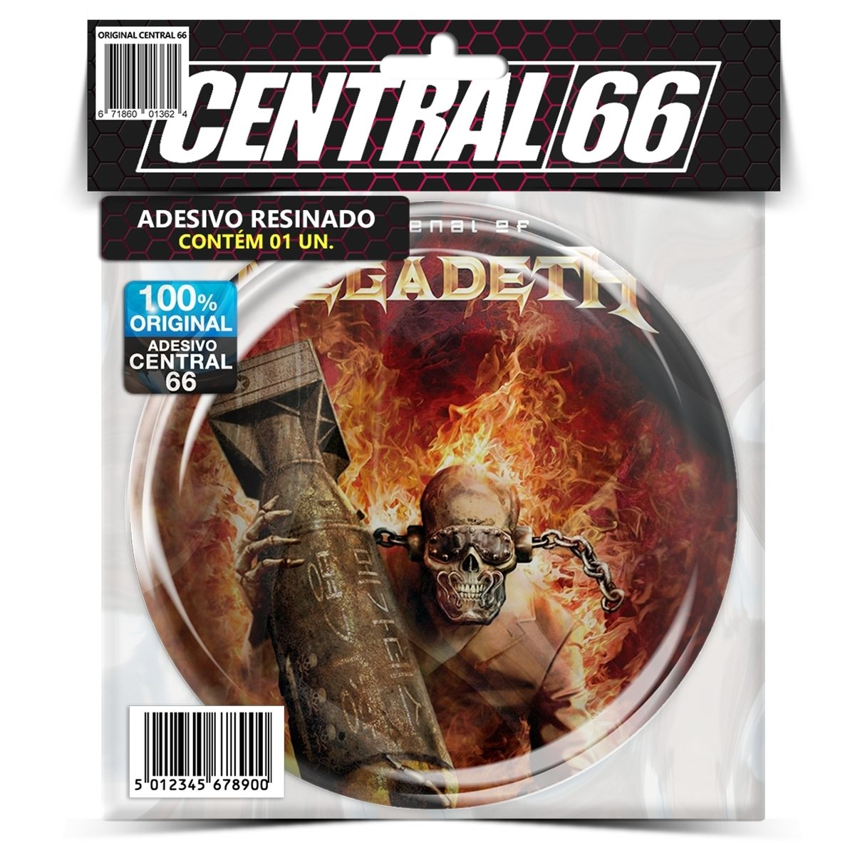 Adesivo Redondo Arsenal of Megadeth – Central 66