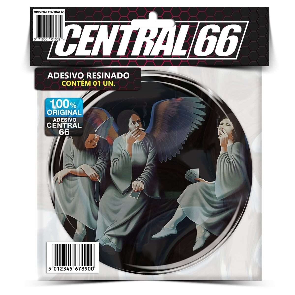 Adesivo Redondo Black Sabbarh Heaven and Hell – Central 66