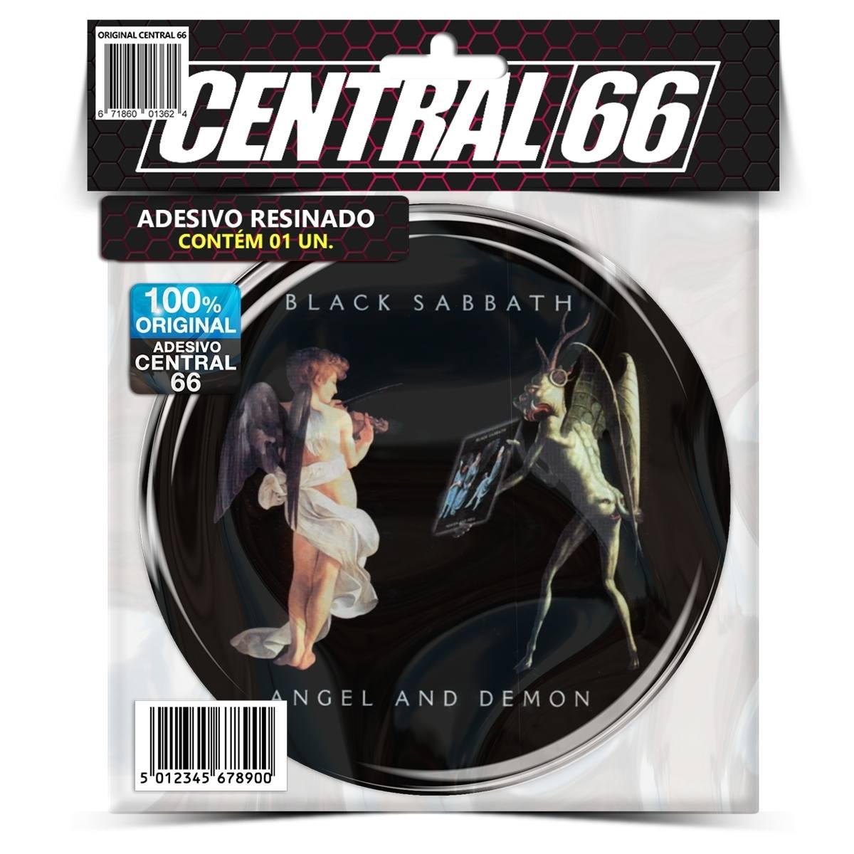 Adesivo Redondo Black Sabbath Angel and Demon – Central 66