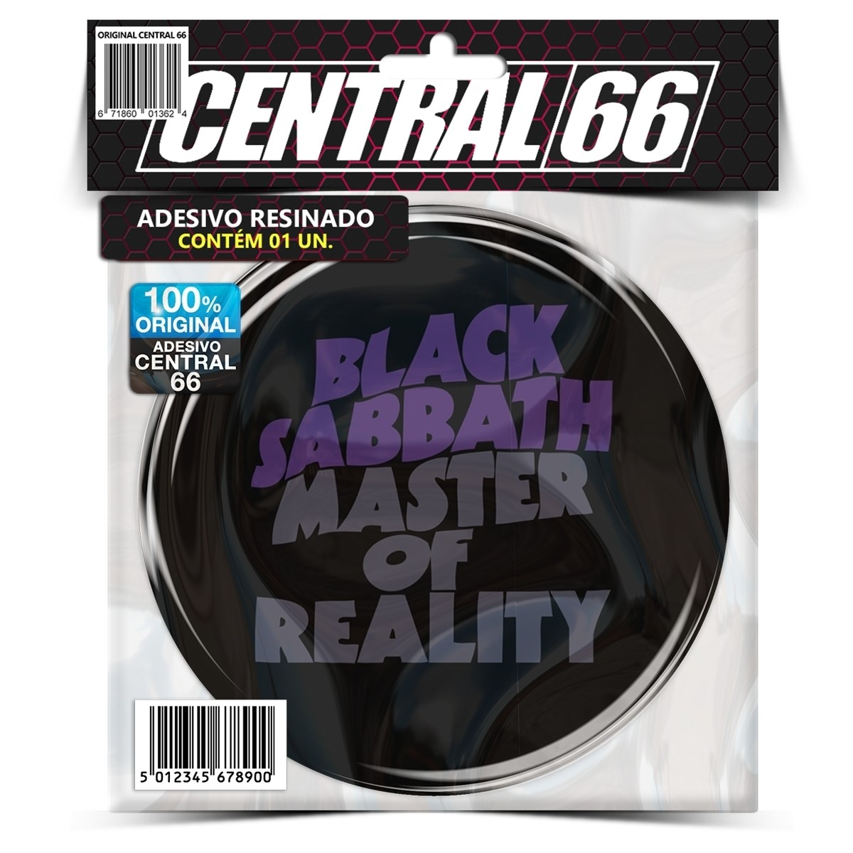 Adesivo Redondo Black Sabbath Master of Reallity – Central 66