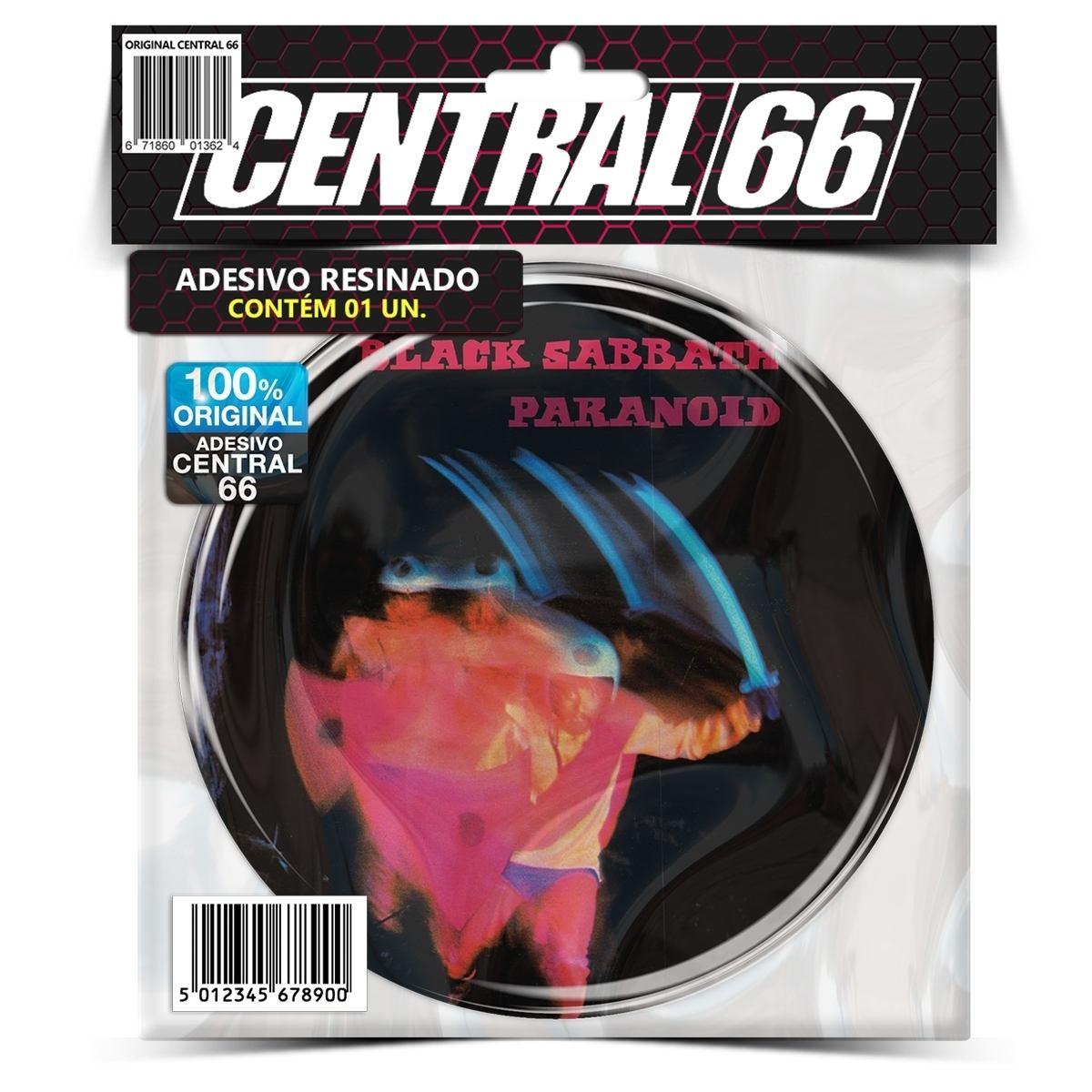 Adesivo Redondo Black Sabbath Paranoid – Central 66