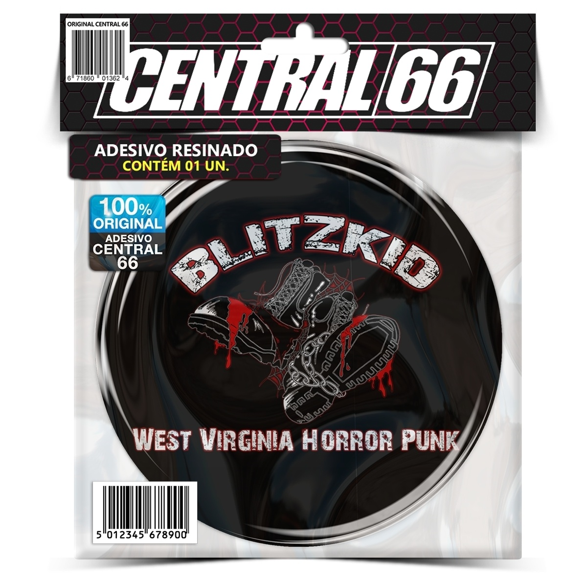 Adesivo Redondo Blitzkid Virginia Horror Punk – Central 66
