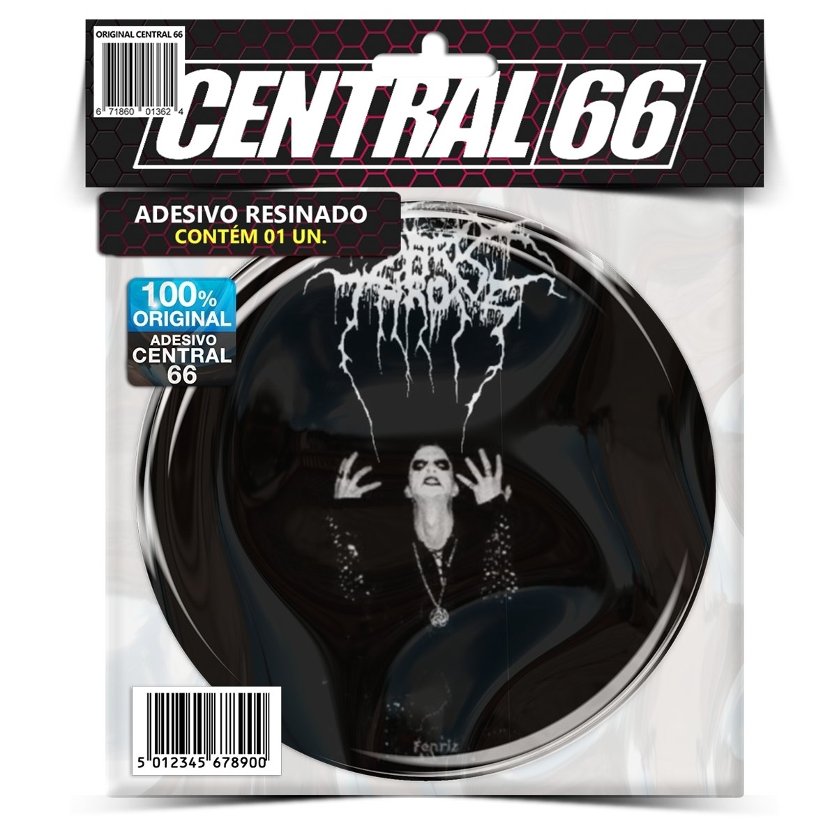 Adesivo Redondo Darkthrone Fenriz – Central 66