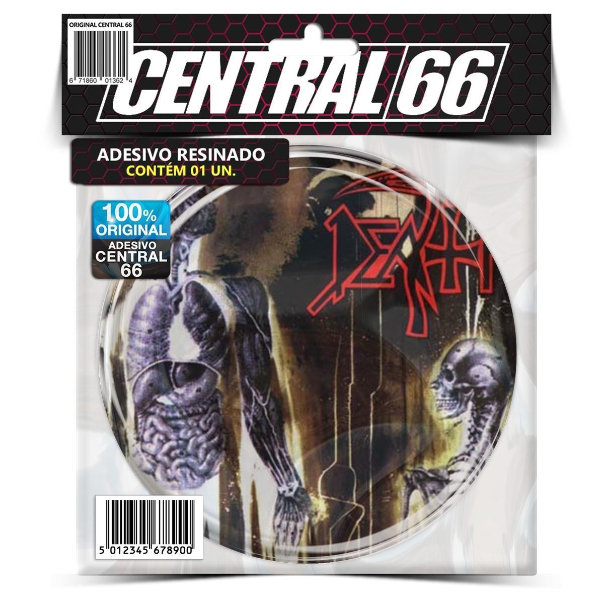 Adesivo Redondo Death Human – Central 66