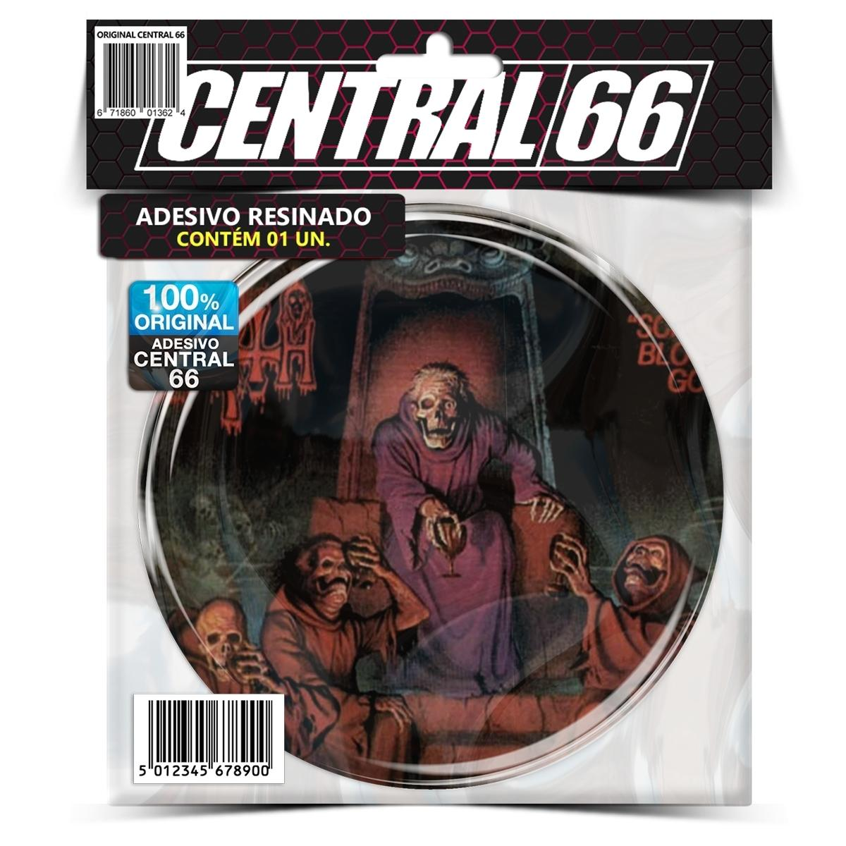 Adesivo Redondo Death Scream Bloody Gore – Central 66