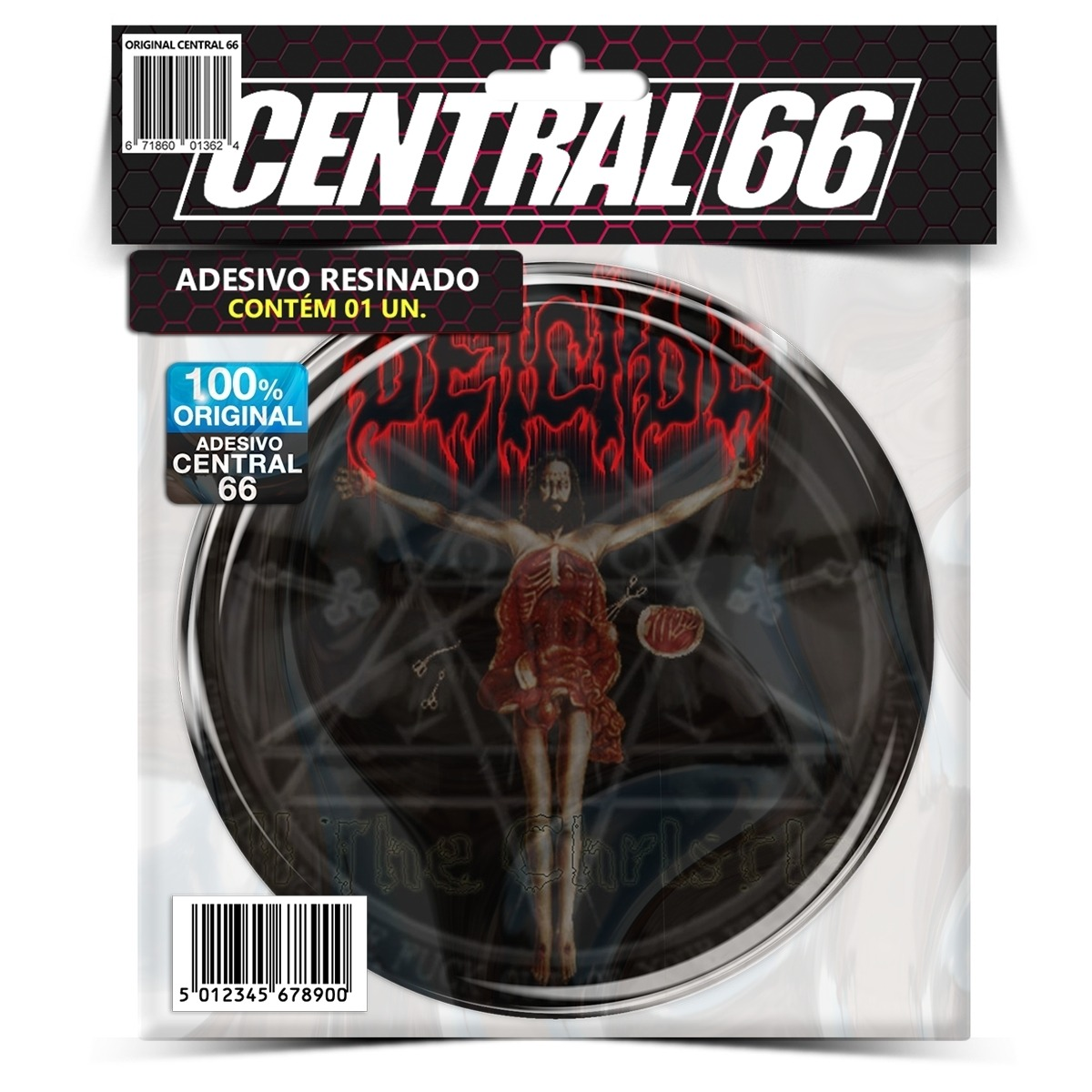 Adesivo Redondo Deicide Once Upon The Cross – Central 66