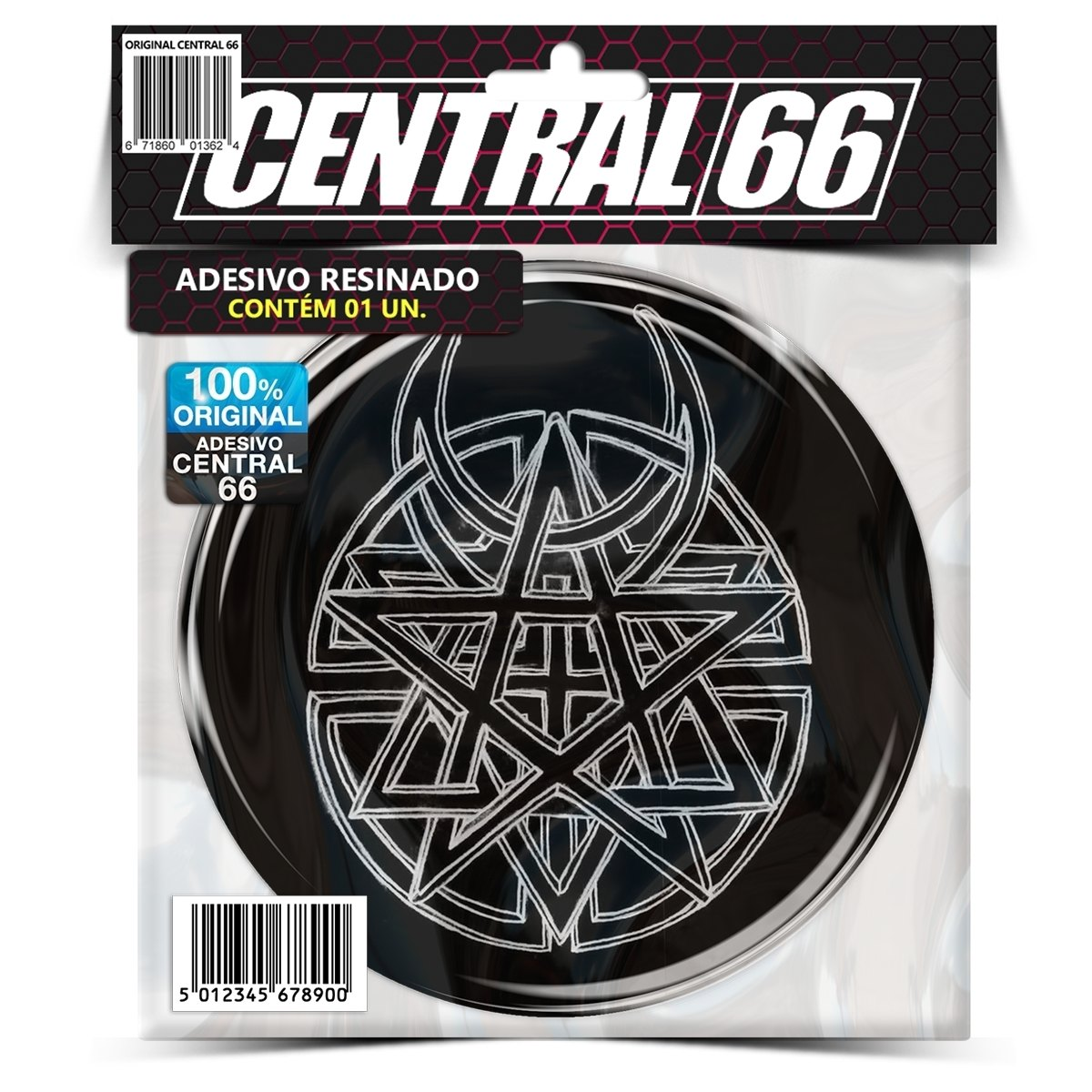 Adesivo Redondo Disturbed Logo – Central 66