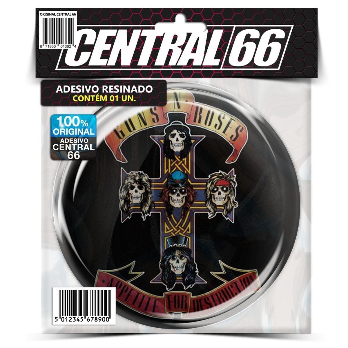 Adesivo Redondo Guns' N Roses Appetite for Destruction – Central 66