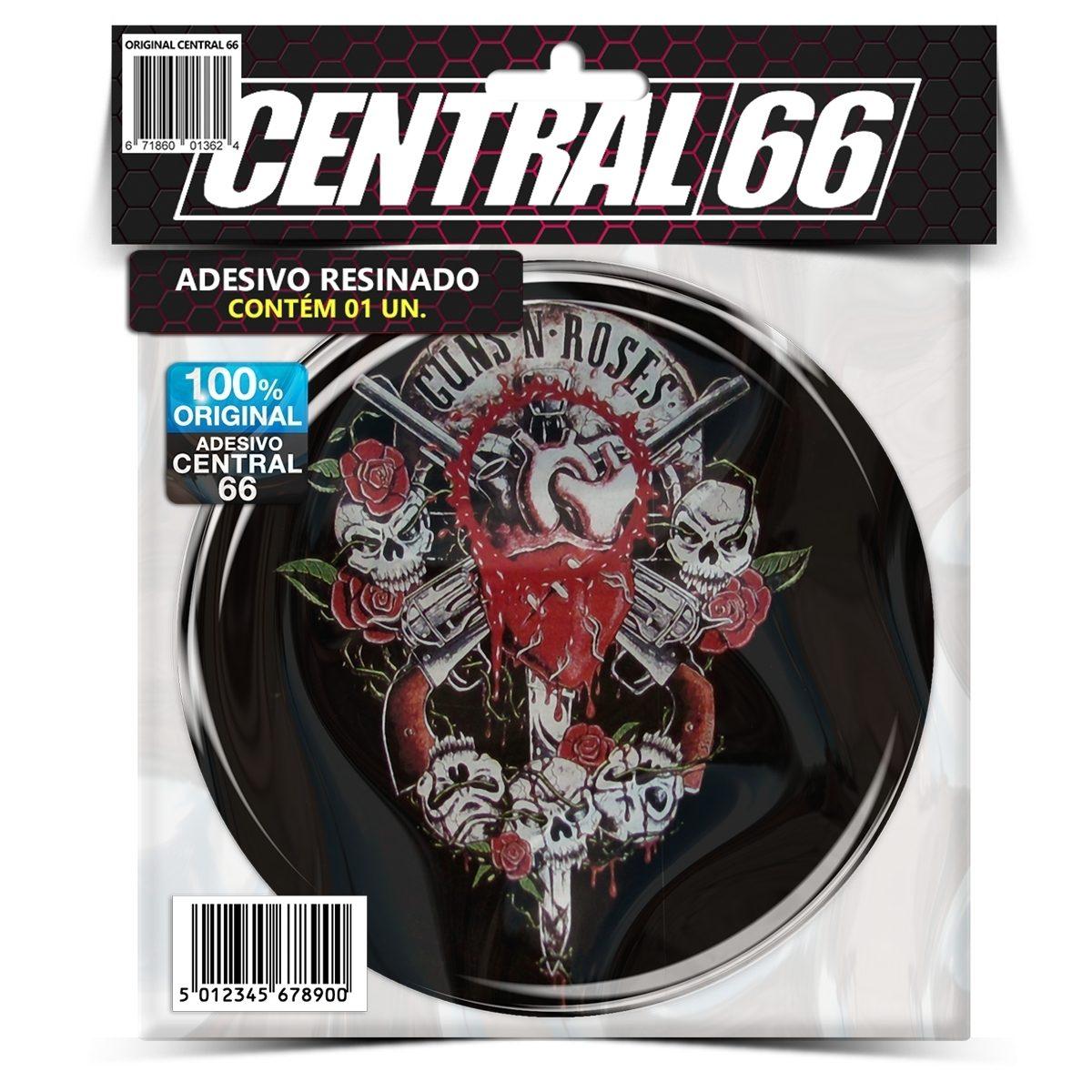 Adesivo Redondo Guns 'N Roses M02 – Central 66