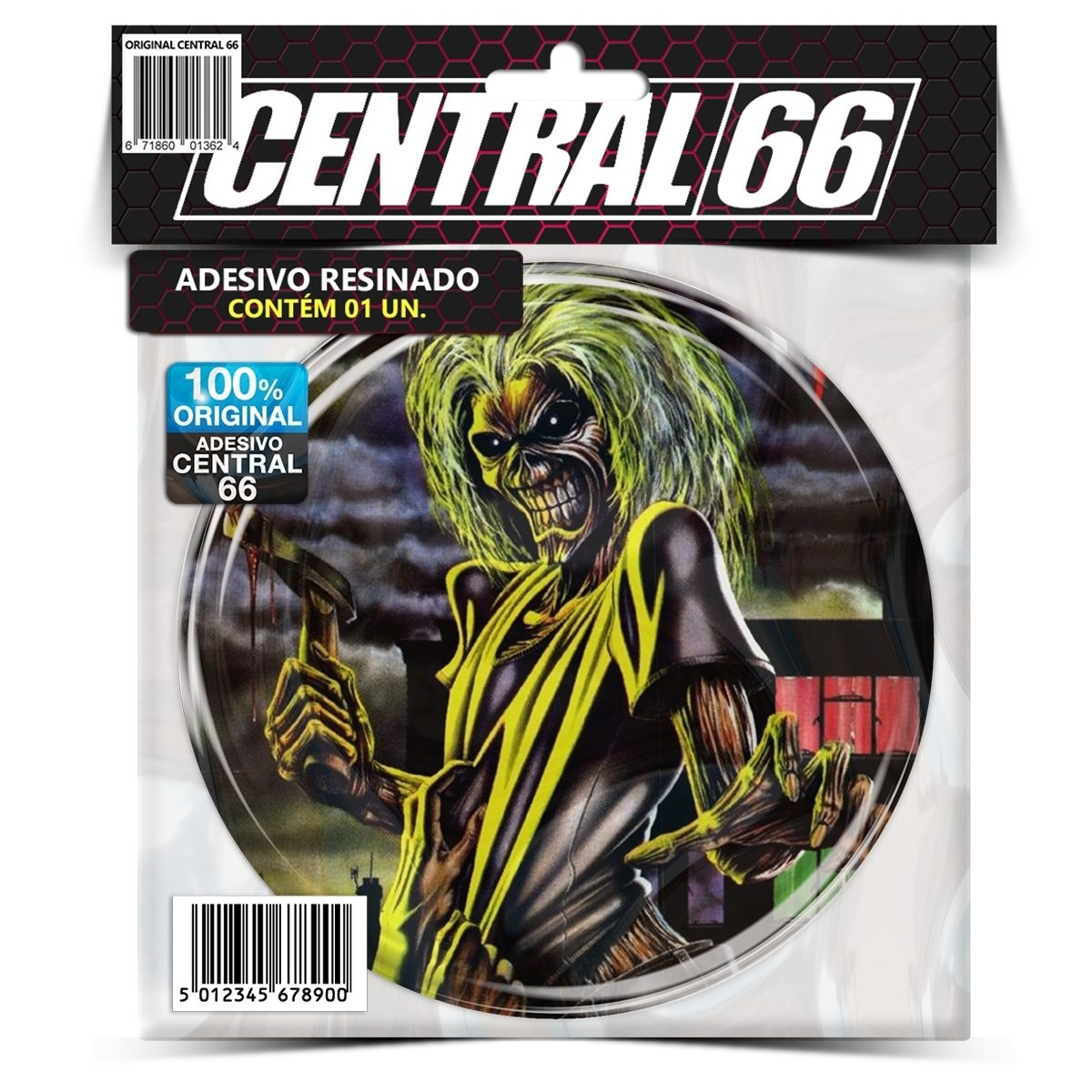 Adesivo Redondo Iron Maiden Killers – Central 66