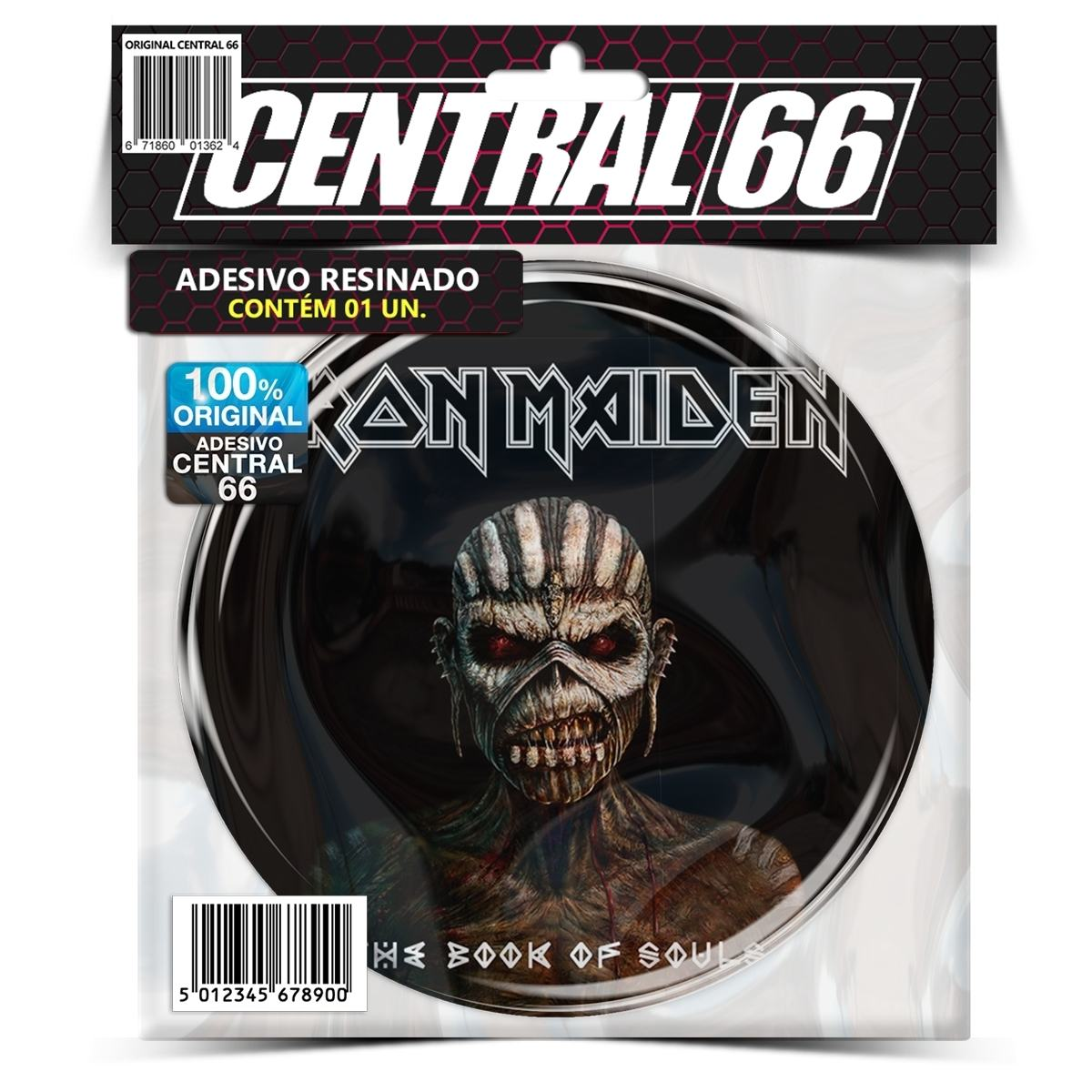 Adesivo Redondo Iron Maiden The Book of Soul – Central 66